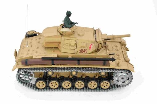 Ferngesteuerter Panzer mit Schuss Tauchpanzer III 116 Heng Long - 2,4Ghz -PRO 6