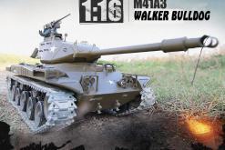 Ferngesteuerter Panzer mit Schuss U.S. M41 A3 WALKER BULLDOG Heng Long 1-16 -2,4Ghz V6.0 -PRO -1
