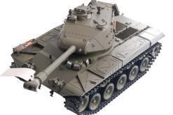 Ferngesteuerter Panzer mit Schuss U.S. M41 A3 WALKER BULLDOG Heng Long +Metallgetriebe -2,4Ghz -V 6.0 -2