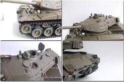 Ferngesteuerter Panzer mit Schuss U.S. M41 A3 WALKER BULLDOG Heng Long +Metallgetriebe -2,4Ghz -V 6.0 -4