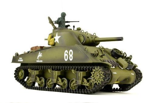 Ferngesteuerter Panzer mit Schuss US M4A3 Sherman Heng Long -Rauch&Sound+2,4Ghz -PRO -1