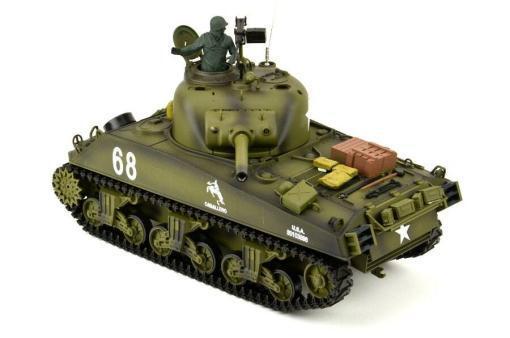 Ferngesteuerter Panzer mit Schuss US M4A3 Sherman Heng Long -Rauch&Sound+2,4Ghz -PRO -2