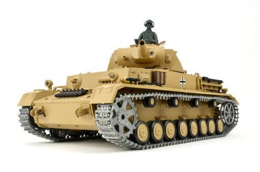 """Ferngesteuerter Panzer """"Kampfwagen IV Ausf.F-1"""" Heng Long 1:16 Sandfarbe mit Rauch,Sound und Schuss, Metallgetriebe -2,4Ghz -PRO-111"""