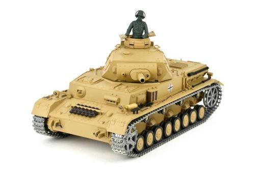 """Ferngesteuerter Panzer """"Kampfwagen IV Ausf.F-1"""" Heng Long 1:16 Sandfarbe mit Rauch,Sound und Schuss, Metallgetriebe -2,4Ghz -PRO-11"""