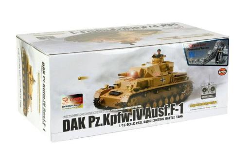 """Ferngesteuerter Panzer """"Kampfwagen IV Ausf.F-1"""" Heng Long 1:16 Sandfarbe mit Rauch,Sound und Schuss, Metallgetriebe -2,4Ghz -PRO-13"""
