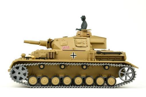 """Ferngesteuerter Panzer """"Kampfwagen IV Ausf.F-1"""" Heng Long 1:16 Sandfarbe mit Rauch,Sound und Schuss, Metallgetriebe -2,4Ghz -PRO-2"""