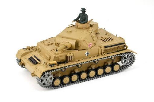 """Ferngesteuerter Panzer """"Kampfwagen IV Ausf.F-1"""" Heng Long 1:16 Sandfarbe mit Rauch,Sound und Schuss, Metallgetriebe -2,4Ghz -PRO-4"""