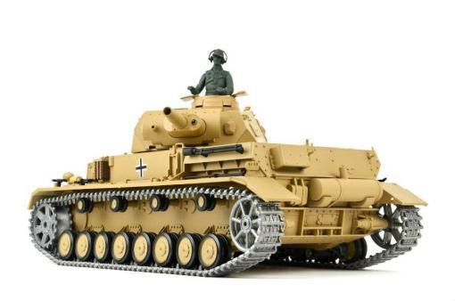"""Ferngesteuerter Panzer """"Kampfwagen IV Ausf.F-1"""" Heng Long 1:16 Sandfarbe mit Rauch,Sound und Schuss, Metallgetriebe -2,4Ghz -PRO-5"""