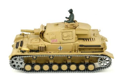 """Ferngesteuerter Panzer """"Kampfwagen IV Ausf.F-1"""" Heng Long 1:16 Sandfarbe mit Rauch,Sound und Schuss, Metallgetriebe -2,4Ghz -PRO-6"""