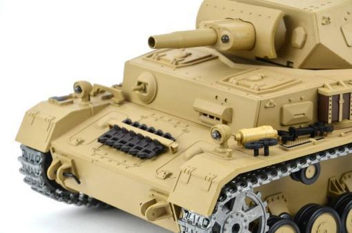 """Ferngesteuerter Panzer """"Kampfwagen IV Ausf.F-1"""" Heng Long 1:16 Sandfarbe mit Rauch,Sound und Schuss, Metallgetriebe -2,4Ghz -PRO-8"""