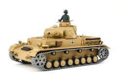 """Ferngesteuerter Panzer """"Kampfwagen IV Ausf.F-1"""" Heng Long 1:16 Sandfarbe mit Rauch,Sound und Schuss, Metallgetriebe -2,4Ghz -PRO-9"""