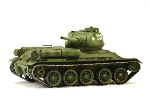 Fernsteuerter Panzer mit Schuss Russischer T-34-85 Heng Long -Rauch&Sound + 2,4Ghz - PRO -7