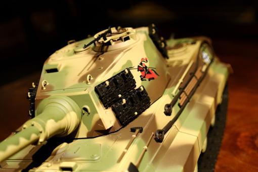 ferngesteuerter panzer deutscher koenigstiger henschelturm pro von heng long - 13
