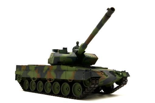 """Ferngesteuerter Panzer mit Schuss """"Deutscher Leopard 2A6"""" Heng Long 1:16 mit Rauch&Sound und Stahlgetriebe -2,4Ghz V6.0 -10"""
