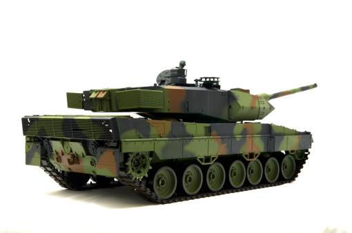 """Ferngesteuerter Panzer mit Schuss """"Deutscher Leopard 2A6"""" Heng Long 1:16 mit Rauch&Sound und Stahlgetriebe -2,4Ghz V6.0 -11"""