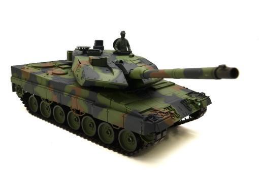 """Ferngesteuerter Panzer mit Schuss """"Deutscher Leopard 2A6"""" Heng Long 1:16 mit Rauch&Sound und Stahlgetriebe -2,4Ghz V6.0 -2"""