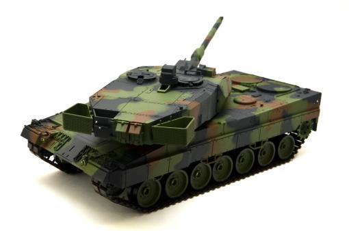 """Ferngesteuerter Panzer mit Schuss """"Deutscher Leopard 2A6"""" Heng Long 1:16 mit Rauch&Sound und Stahlgetriebe -2,4Ghz V6.0 -7"""