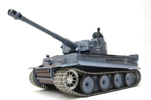 deutscher tiger 1 ferngesteuerter panzer mit schuss rauch und sound mit metallgetriebe und metallkette - pro -1
