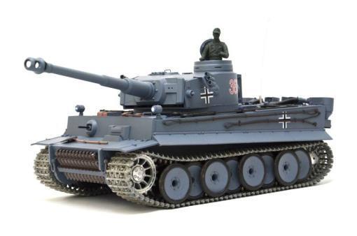 deutscher tiger 1 ferngesteuerter panzer mit schuss rauch und sound mit metallgetriebe und metallkette - pro -12