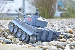deutscher tiger 1 ferngesteuerter panzer mit schuss rauch und sound mit metallgetriebe und metallkette - pro -14