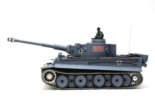 deutscher tiger 1 ferngesteuerter panzer mit schuss rauch und sound mit metallgetriebe und metallkette - pro -3