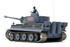 deutscher tiger 1 ferngesteuerter panzer mit schuss rauch und sound mit metallgetriebe und metallkette - pro -4