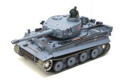 deutscher tiger 1 ferngesteuerter panzer mit schuss rauch und sound mit metallgetriebe und metallkette - pro -7