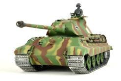 panzer ferngesteuert mit schussfunktion von heng long - deutscher königstiger mit metallgetriebe und metallketten - pro-1