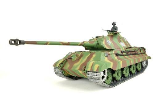 panzer ferngesteuert mit schussfunktion von heng long - deutscher königstiger mit metallgetriebe und metallketten - pro-11