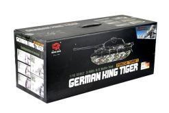 panzer ferngesteuert mit schussfunktion von heng long - deutscher königstiger mit metallgetriebe und metallketten - pro-14