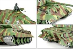panzer ferngesteuert mit schussfunktion von heng long - deutscher königstiger mit metallgetriebe und metallketten - pro-15