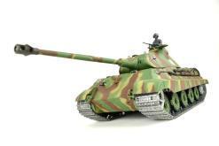 panzer ferngesteuert mit schussfunktion von heng long - deutscher königstiger mit metallgetriebe und metallketten - pro-4