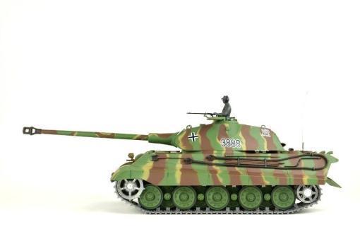 panzer ferngesteuert mit schussfunktion von heng long - deutscher königstiger mit metallgetriebe und metallketten - pro-5
