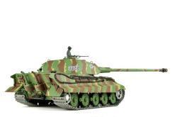 panzer ferngesteuert mit schussfunktion von heng long - deutscher königstiger mit metallgetriebe und metallketten - pro-7