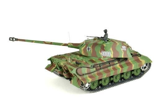 panzer ferngesteuert mit schussfunktion von heng long - deutscher königstiger mit metallgetriebe und metallketten - pro-8