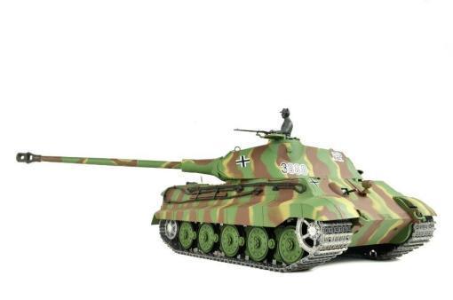 panzer ferngesteuert mit schussfunktion von heng long - deutscher königstiger mit metallgetriebe und metallketten - pro-9