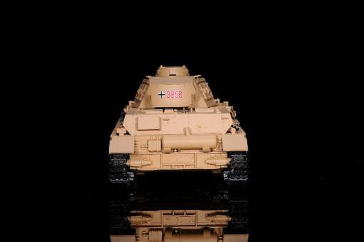 """Ferngesteuerter Panzer """"Kampfwagen IV Ausf.F-1"""" Heng Long 1:16 Sandfarbe mit Rauch,Sound und Schuss, Metallgetriebe -2,4Ghz-3"""