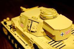"""Ferngesteuerter Panzer """"Kampfwagen IV Ausf.F-1"""" Heng Long 1:16 Sandfarbe mit Rauch,Sound und Schuss, Metallgetriebe -2,4Ghz-11"""