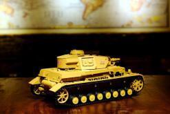 """Ferngesteuerter Panzer """"Kampfwagen IV Ausf.F-1"""" Heng Long 1:16 Sandfarbe mit Rauch,Sound und Schuss, Metallgetriebe -2,4Ghz-18"""