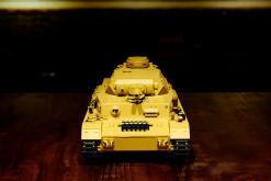 """Ferngesteuerter Panzer """"Kampfwagen IV Ausf.F-1"""" Heng Long 1:16 Sandfarbe mit Rauch,Sound und Schuss, Metallgetriebe -2,4Ghz-19"""