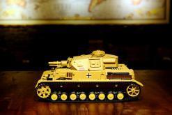 """Ferngesteuerter Panzer """"Kampfwagen IV Ausf.F-1"""" Heng Long 1:16 Sandfarbe mit Rauch,Sound und Schuss, Metallgetriebe -2,4Ghz-9"""