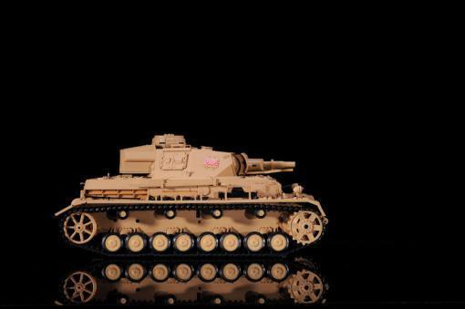 """Ferngesteuerter Panzer """"Kampfwagen IV Ausf.F-1"""" Heng Long 1:16 Sandfarbe mit Rauch,Sound und Schuss, Metallgetriebe -2,4Ghz-4"""