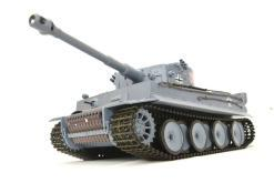 ferngesteuerter panzer schuss heng long tank german tiger 1 upgrade version 6.0 metallgetriebe -1