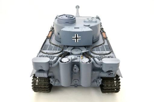 ferngesteuerter panzer schuss heng long tank german tiger 1 upgrade version 6.0 metallgetriebe -11