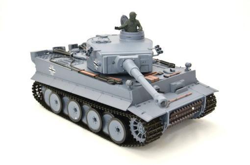 ferngesteuerter panzer schuss heng long tank german tiger 1 upgrade version 6.0 metallgetriebe -12
