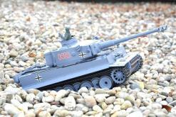 ferngesteuerter panzer schuss heng long tank german tiger 1 upgrade version 6.0 metallgetriebe -13