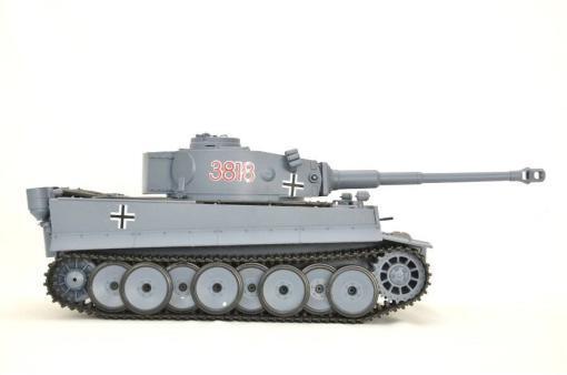 ferngesteuerter panzer schuss heng long tank german tiger 1 upgrade version 6.0 metallgetriebe -2
