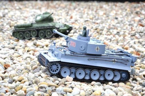 ferngesteuerter panzer schuss heng long tank german tiger 1 upgrade version 6.0 metallgetriebe -3