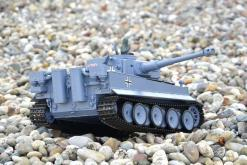 ferngesteuerter panzer schuss heng long tank german tiger 1 upgrade version 6.0 metallgetriebe -4