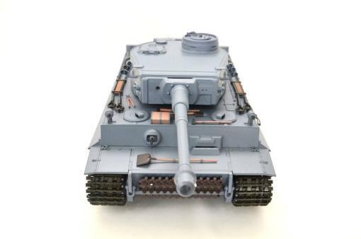 ferngesteuerter panzer schuss heng long tank german tiger 1 upgrade version 6.0 metallgetriebe -5